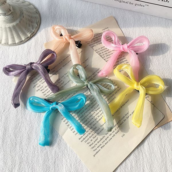 Big bow hairpin female Korean head hair accessories temperament top clip hairpin clip headdress wholesale NHOF217381