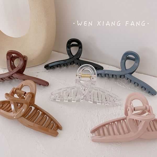 cross grip clip simple wild transparent hair clip temperament hair chuck hair clip bath hair accessories headdress wholesale NHOF217384