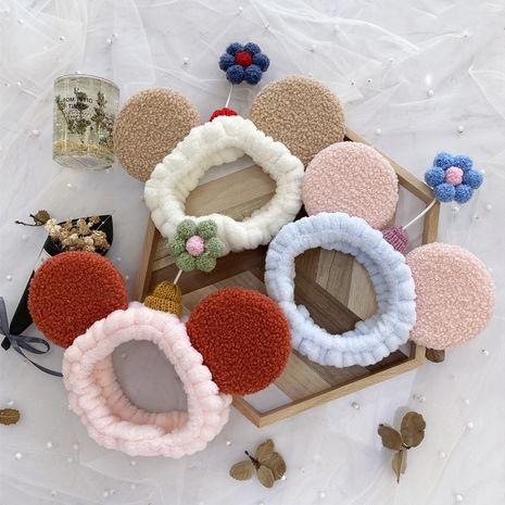 Flor coreana lavado pelo banda chica maquillaje paquete pelo diadema elástica tela arte banda para el cabello NHSM217388's discount tags
