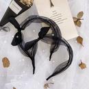 Korean fashion  organza pearl hair band simple polka dot bow rabbit ears thin headband fashion wild hair hole headdress NHSM217392