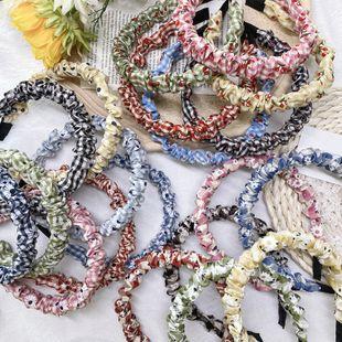 Korean fashion plaid fold headband wave color cute little daisy flower thin edge headband head buckle hair hole headdress NHSM217398's discount tags