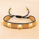 national style fivepointed star with Miyuki rice beads handwoven love rivet suit bracelet wholesale NHGW217430