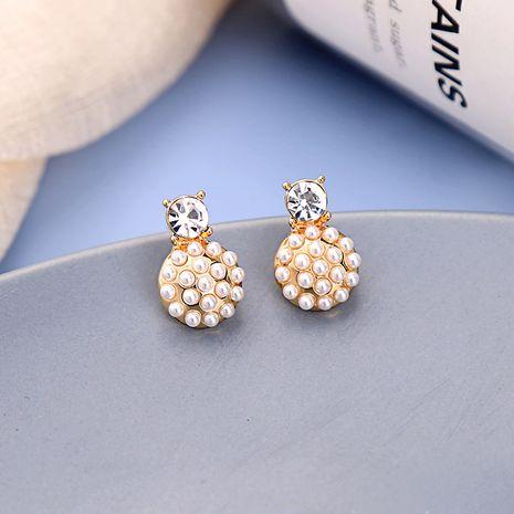 Petites et simples boucles d'oreilles en diamant style design boucles d'oreilles rondes mignonnes boucles d'oreilles créatives en gros NHQD217464's discount tags