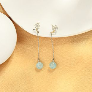 Pendientes de diamantes de circonio de moda coreana cara larga pendientes de flores finas pendientes de hadas salvajes de mariposa súper al por mayor NHQD217473's discount tags