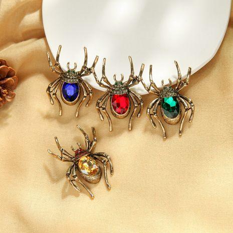 Accesorios creativos retro diseño sentido piedra preciosa diamante insecto traje ramillete personalidad nicho araña broche al por mayor NHQD217489's discount tags