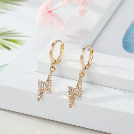 ornaments mini star earrings zircon lightning cross earrings earrings micro-set earrings wholesale NHGO217501's discount tags