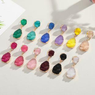 joyería de moda Corea imitación pendientes de cristal de imitación pendientes de piedra natural pendientes de gota de agua pendientes de mujer pendientes NHGO217503's discount tags