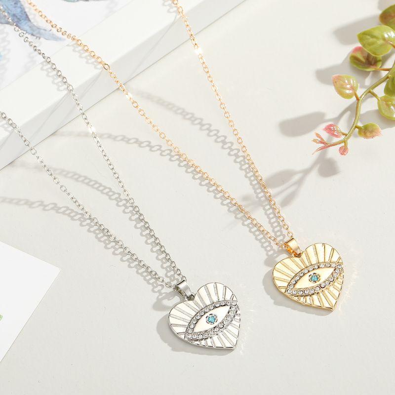 new original Turkish eye necklace point diamond love blue eyes pendant necklace jewelry  women's necklace wholesale NHGO217505