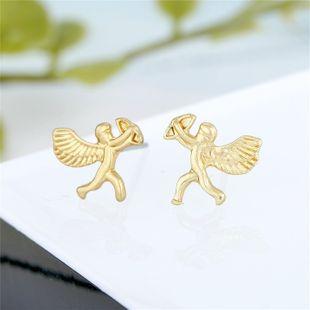 fshion joyería pequeños pendientes de Cupido galvanoplastia aleación rosa pendientes de mujer pendientes Yiwu NHGO217510's discount tags
