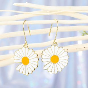 South Korea's new flower earrings daisy earrings sweet and wild small flower earrings chrysanthemum earrings wholesale  NHGO217512's discount tags