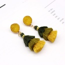 Fashion jewelry imitation natural stone tassel earrings multilayer earrings imitation crystal bud resin earrings NHGO217515