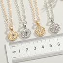 new original Turkish eye necklace point drill palm eye geometric pendant necklace womens necklace wholesale NHGO217520