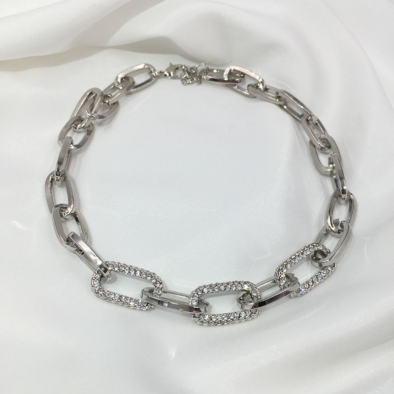 Thick chain necklace tide niche design tide hip-hop punk simple clavicle chain wholesale NHWK217545