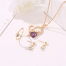 new jewelry threepiece suit fashion trend jewelry love necklace earring ring suit wholesale NHMO217578