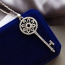 explosion necklace personality diamond garland key necklace ladies long chain fashion sweater chain wholesale NHMO217597