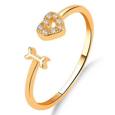 new ring fashion letter jewelry personalized love women's single ring trend love opening couple ring NHMO217601's discount tags
