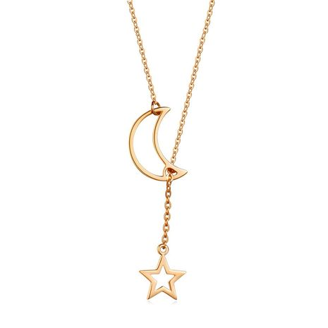 new necklace style sexy star moon pendant simple wild necklace ladies clavicle chain wholesale NHMO217619's discount tags