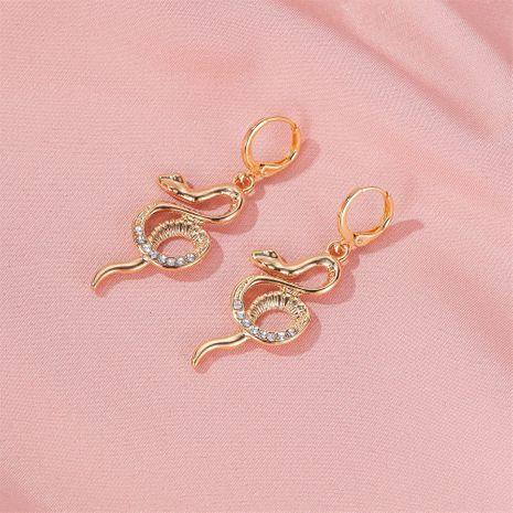 Fashion earrings personalized full diamond snake long earrings temperament luxury earring wholesale NHDP217348's discount tags