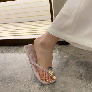 Chanclas de piña nuevas de verano coreano con sandalias y zapatillas femeninas de fondo suave nihaojewelry al por mayor NHHU217765's discount tags