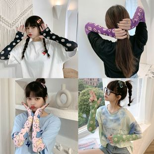 summer hot selling fashion cute  protection gloves ice sleeve riding half finger ice silk sleeve  women's sun-protective long sleeves nihaojewelry wholesale NHTZ217844's discount tags