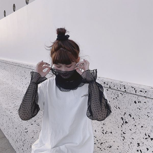 Three-piece sunscreen Korean fashion new fashion sleeve neck hanging ear veil scarf summer anti-burst mask wholesale nihaojewelry NHTZ217849