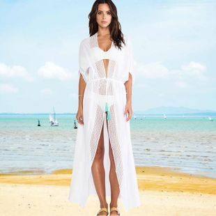 New  fashion lace cardigan sunscreen clothing blouse beach jacket bikini outside swimsuit cardigan female  nihaojewelry wholesale NHXW217912's discount tags