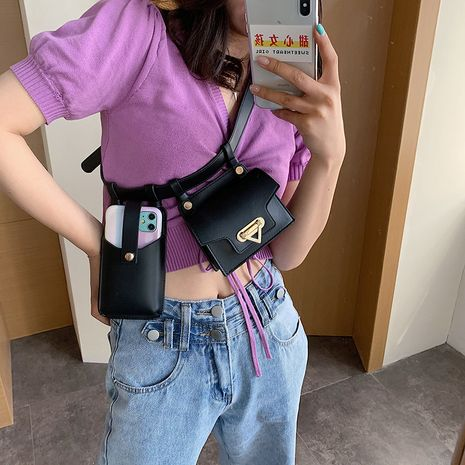 summer fashion  new locomotive style   small chest bag  mobile phone change  waist bag wholesale NHGA217916's discount tags