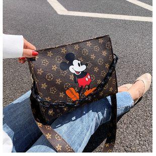 Cartoon bag  new printed bag fashion retro presbyopic shoulder messenger small square bag  small bag wholesale nihaojewelry NHGA218001's discount tags