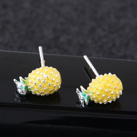 exquisite Korean fashion sweet pineapple earrings wholesale nihaojewelry NHSC218098's discount tags