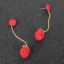 boucles d39oreilles sauvages mignon fraise diamant boucles d39oreilles longues boucles d39oreilles rouges en gros nihaojewelry NHCT218004