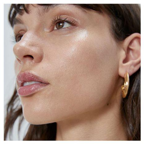 rétro en forme de C boucles d'oreilles boucles d'oreilles tempérament sauvage géométrique métal texture boucles d'oreilles en gros nihaojewelry NHCT218006's discount tags