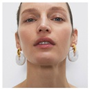 fashion jewelry fashion minimalist style acrylic earrings geometric pendant earrings wholesale nihaojewelry NHCT218014