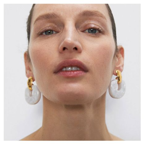 bijoux de mode mode boucles d'oreilles acryliques de style minimaliste boucles d'oreilles pendentif géométrique en gros nihaojewelry NHCT218014's discount tags