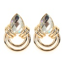 fashion geometric earrings simple personality alloy retro earrings girls earrings wholesale nihaojewelry NHCT218033