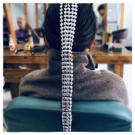 bijoux de mode en forme de coeur accessoires pour cheveux accessoires pour cheveux en forme de coeur en aluminium chaîne accessoires pour cheveux en gros nihaojewelry NHCT218046's discount tags