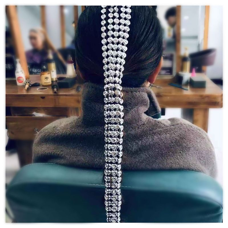 fashion jewelry heartshaped hair accessories hair accessories heartshaped aluminum chain hair accessories wholesale nihaojewelry NHCT218046