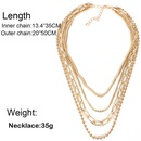 Fashion metal necklace wholesale nihaojewelry multilayer chain clavicle chain necklace women NHCT218048
