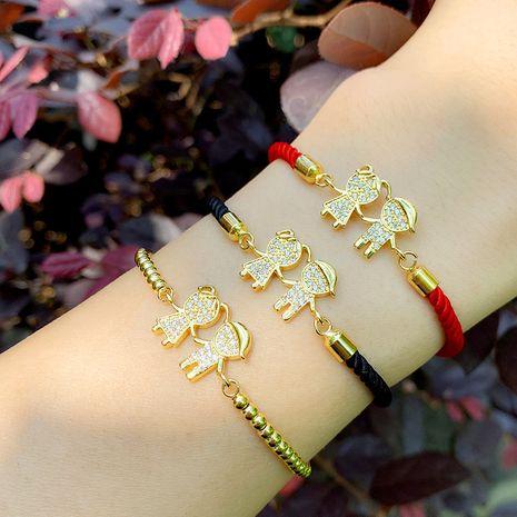 women's bracelet Korean couple bracelet boy girl diamond red rope bracelet wholesale nihaojewelry NHAS218081's discount tags