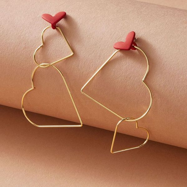 joyería de moda super hada retro pendientes tamaño temperamento amor pendientes largos pendientes al por mayor nihaojewelry NHNZ218114