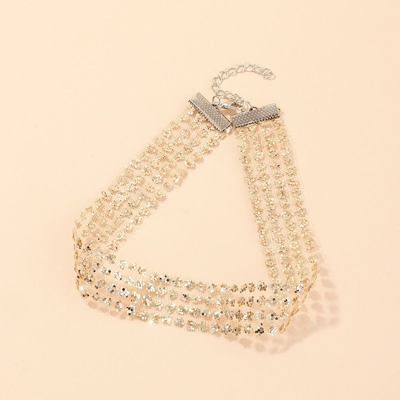 fashion jewelry super sparkle necklace fashion wild clavicle chain necklace wholesale nihaojewelry NHNZ218127