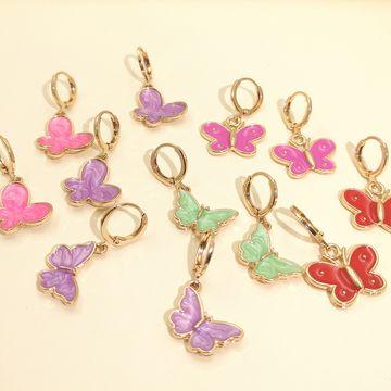 pendientes de mariposa de moda temperamento coreano mariposa elegante pendientes frescos frescos al por mayor NHJJ218130