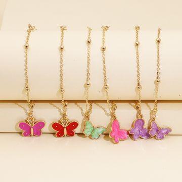 Mariposa de las mujeres de moda pulsera simple pulsera creativa al por mayor cadena animal NHJJ218131