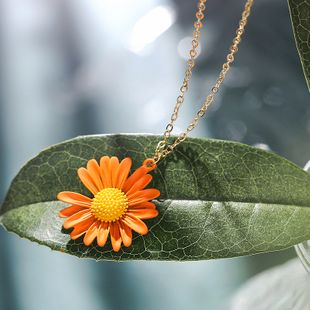 daisy summer new sweet flower necklace temperament elegant sexy wild clavicle chain wholesale nihaojewelry NHPP218144's discount tags