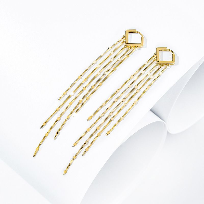 high-grade long tassel exaggerated earrings nihaojewelry wholesale trendy personality fashion sexy wild earrings wholesale nihaojewelry NHPP218147