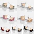 fashion big earrings jewelry alloy wire spike tassel fanshaped earrings wholesale nihaojewelry NHLU218180