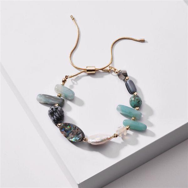 fashion women's bracelet wholesale natural shell pearl stone pull snake chain  bracelet new NHLU218188