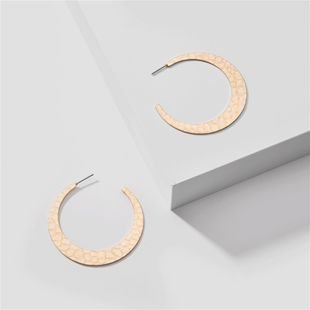 fashion big jewelry moon metal thumping pattern exaggerated large earrings wholesale nihaojewelry NHLU218212's discount tags
