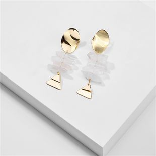 fashion exaggerated natural crystal teeth stone geometric earrings women earrings wholesale nihaojewelry NHLU218216's discount tags