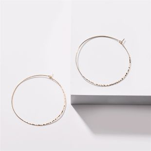 fashion big earrings jewelry brass pieces beat pattern round earrings new  wholesale nihaojewelry NHLU218231's discount tags