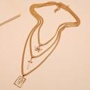 Simple Harajuku Street Sweater Chain Angel Sword Dagger Butterfly Multicapa Colgante de tres piezas Collar largo nihaojewelry al por mayor NHPV218250